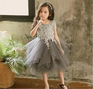2021 HOT New Baby Princess Flower Girl Dress Lace Appliques Wedding Prom Ball Gowns Birthday Communion Toddler Kids TuTu Dress