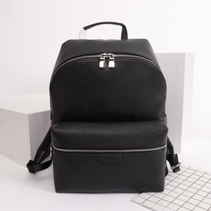 2021 Classic Designer Mann Student Rucksäcke für Männer Echtes Leder Doppel Umhängetasche PVC Design Handtasche Schule Rucksack Notebook 30230