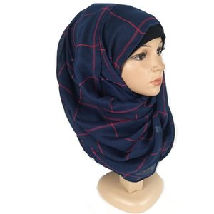 Cotton Plaid Sciarpe Turbans Forestscarves Scialli singoli Scartelle lunghe Sciarpe Testa Factory Direct Hijab Donne Sciarpa Scarpa