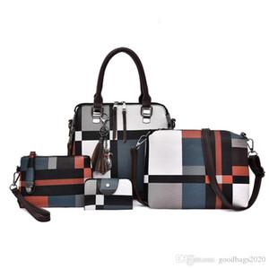 4Pcs set Purse for Women Backpack Girls,Waterproof Bookbag School Bag Primary Elementary Kids wallets designer Phone Bags Crossbody191010