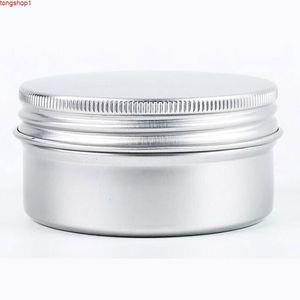 Crema Jar Venta Caliente Cosmetic Tarjetas de almacenamiento Caja de Viaje Caja de Vela Redonda Aluminio Metal Lata Contenedor 80ml 50pcs / Lotgood Cantidad