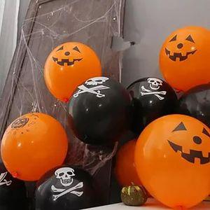 10pc set Black Orange Halloween Balloons Bat Cat Pumpkin Ballon Inflatable Toys Air Helium Balloons Halloween Decorations Globos sqcgQM