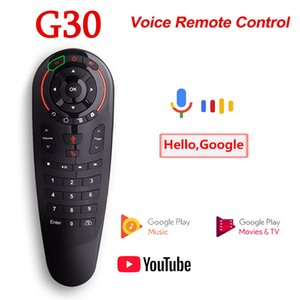 G30S Voice Remote Control 2.4G Wireless Air Mouse G30 33 keys IR learning Gyro Sensing Smart for Android TV BOX Game PC