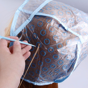 Colorant Cap + Crochet réutilisable Set Hair Salon professionnel Couleur Coloration Mise en évidence Glaçage Tipping Couleur Outils Hairstyling