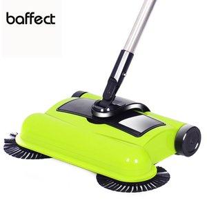Nueva acero inoxidable empuje equipo de barrido Tipo recogedor de vacío maneta Hand Cleaner empuje piso Sweeper