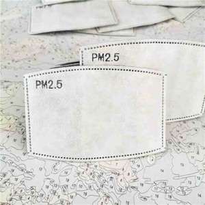 Hot Sale Cotton Face with Pm2 5 Haze Mouth Anti Dust Mask Activated Carbon Filter Paper in Stock 50pcs Lot