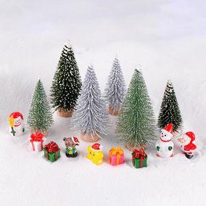 مصطنعة شجرة عيد الميلاد مايكرو المناظر الطبيعية البيئية زجاجة الديكور اليدويه عيد الميلاد الراتنج الحرف حديقة المنمنمات عيد الميلاد ديكور المنزل wmtRPU