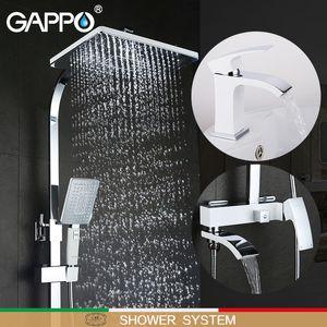 GAPPO white Bathtub Faucets bath tub faucet bath taps basin faucet basin mixer water taps robinet baignoire shower system 1011