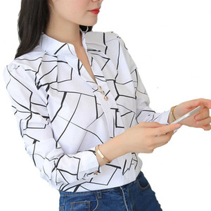 and Office Lady Blouse Slim Shirts Women Blouses Plus Size Tops Casual Shirt Female Blusas