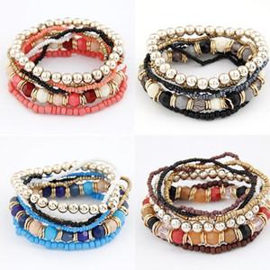 Nuevas pulseras con cuentas múltiples bohemias conjuntos para mujeres con cuentas de estilo oceánico Bangle Lady Fashion Jewelry Regalo 96 G2