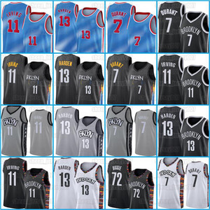 2021 Novo 13 Endure Jerseys Kevin Keyrie 7 Durant Basquete 11 Irving Jersey 72 Biggie Jerseys Mens Basquete Preto Best Sellers