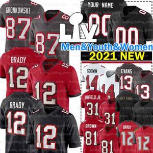 12 Tom Brady Jerseys Rob Gronkowski Mike Evans TampaBahíaBuccaneer Mike Alstott Chris Godwin Antonio Brown Ronald Jones Devin White