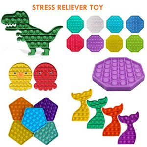 DHL Free Push Pop Fidget Toy Among us Bubble Sensory Autism Special Needs Stress Reliever It Squeeze Sensory Toy for Kids Family