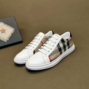 Christmas gift for l! New Designer European men's shoes casual sports shoes British leather sneakers