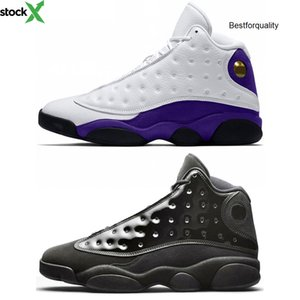 Rivals Lakers 13s Men jordon basketball Shoes 13 Cap And Gown Atmosphere Grey He Got Game Black Cat Bred Sport Trainers Sneakers Size 41-47