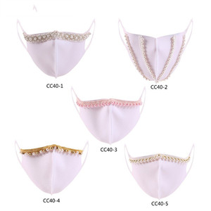 Color Pearl Pearl Masks Blanco Lavable Oído Tipo Colgante Mascarilla Adult Face Venta caliente 6 85JY J2