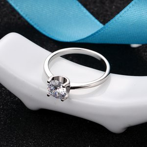 1ct 2ct D color wedding engagement bridal moissanite ring fashion woman jewelry gift