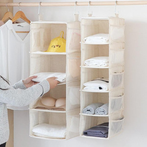 4 5 Layers Wardrobe Hanging Storage Bag Interlayer Drawer Type Clothes Hangers Holder Portable Hanging Closet Organizer Shelf