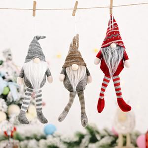 Рождественские украшения на полоску лес старик висит нога висит безликая кукла висит Санту кукла T3i51376