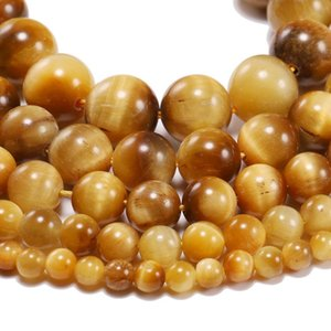 1strand Lot 4 6 8 10 12mm Aaa Natural Stone Gold Tiger Eye Agat Round Beads Loose Spacer Bead For Jewelry Making H jllJFQ