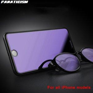 2.5D глянцевый анти-голубой светло-закаленный стеклянный экран протектор для iPhone 12PRO MAX 12MINI SE2020 Anti Blue-Blue-Ray стеклянная пленка