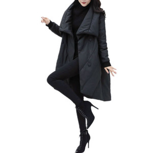 DMLFZMY Fashion Elegant Women Parka Winter Jacket Women Parkas Cotton Padded Jacket Warm Female Long Coat Clothes Tops 201028