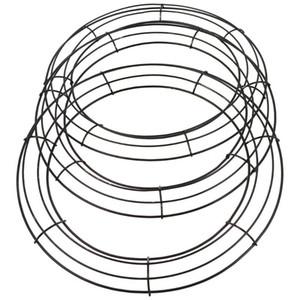 3pcs Ferro fiore corona di ferro telaio in ferro decorativo corona di corona decorativa per la casa