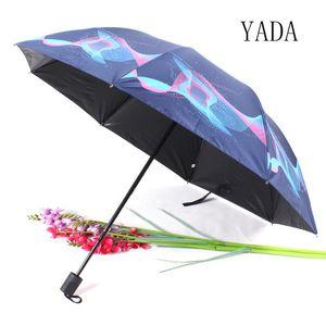 Yada 2020 In neuen Art und Weise Blumen-Regenschirm Sonnenschirm Rainy Drei Folding Regenschirme für Frauen-Mann Uv Windsicher Regenschirme Yd200028 bbyFKS
