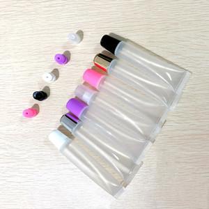 10ml 15ml 20ml Tube Rouge à lèvres vide, Baume à lèvres souple Tuyau, Maquillage squeeze Sous-mise en bouteille, en plastique transparent Lip Gloss Container F606