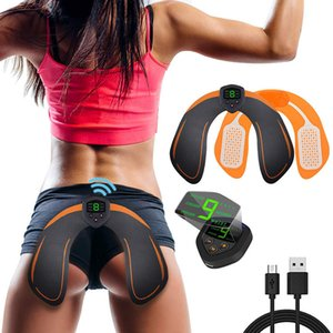Rechargeable EMS Hip Trainer ABS Stimulator Buttocks Training With LCD Display Smart Fitness Training Gear Butt Lifting Shaping Q0109