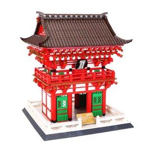 Wange 6212 2409PCS Blocs Blocks Architecture Kiyomizu Temple Modèle Bâtiment Brique House Juguetes Jouets éducatifs pour enfants X0102