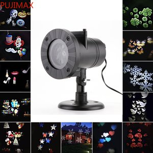 Christmas Projector Laser Light 12 Replaceable Lens 12 Colorful Patterns Night Light Wedding Fairy Garden Lawn Lamp Landscape Laser Lighting