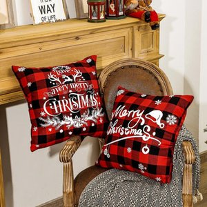45*45cm Christmas Snowflake Pillowcase New Year Decor Santa Cushion Covers Home Sofa Pillow Case Xmas Pillow Cover Party Supplies EWB2951
