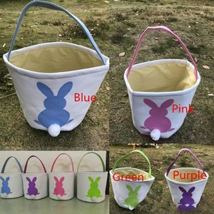 INS Burlap Easter Bunny Baskets DIY Rabbit Bags Bunny Storage Bag Jute Rabbit Ears Basket Easter Gift Bag Rabbit Ears Put Easter Eggs TO583