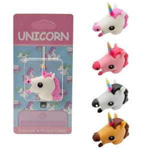 Lovely Unicorn Figure Usb Data Cable Bite Line Protector Protective Sleeve For Iphone Xiaomi Huawei Usb Charging Cable Protector