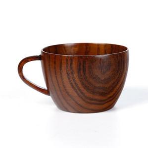 Wooden Cup Primitive Handmade Natural Beer Wine Juice Milk Water Cup