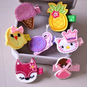 Korean embroidery children's hair accessories baby all-inclusive cloth baby various hairpin cute cartoon wholesale