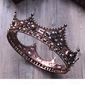 3 style Court Retro Baroque Bridal Tiara Bride Queen King Crown Wedding Hair Jewelry Accessories Women Pageant Prom Headpiece D19011005