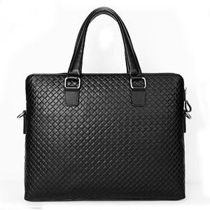 Luxury Alligator Cow Genuine Leather Business Men's Briefcase Male Briefcase Shoulder Bag Men Messenger Bag Tote Computer