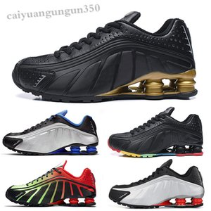 NIKE SHOX R4 301 Nouveau design 2020 R4 Hommes Chaussures de sport Triple Noir Blanc bon marché LIVRER OZ NZ 802 809 entraîneurs des espadrilles Zapatillas WX06