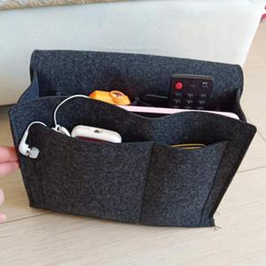 New Felt Bedside Organizer Bed Holder Pockets Felt Bedside Storage Organizer Bed Desk Bag Durable Multiple Compartments Hanging