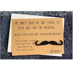 Benim Groomsmen Olacak Özel Düğün Kart Komik Düğün Kartları Yüzük Taşıyıcı Kart Sağlık Hediyeler En İyi Man1