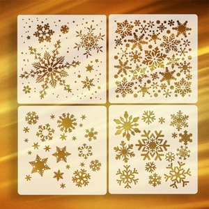 Christmas snow spray pattern winter ice painting template winter wind hollow-out drawing tool
