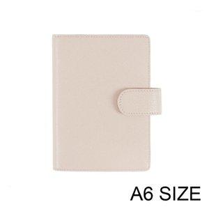 100% Genuine Litchi grão couro A6 Notebook Diário Planejador Jornal Papelaria Pequeno Notepad Agenda Organizer1