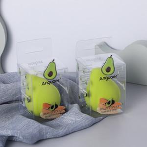 Симпатичная девушка лимон персик авокадо слойки яйцо красоты яйцо мягкий сухой мокрый макияж инструмент для фундамента