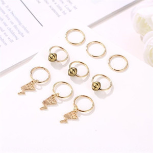 Personality suit accessories love coin circle small braid accessories punk style rock dirty Personalized band suit hair ring braid hair ring