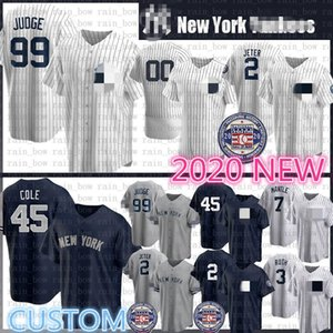 Custom 2020 New Aaron 99 Judge Baseball Jersey Derek 2 Jeter Gerrit 45 Cole Gleyber 25 Torres DJ 26 LeMahieu Don 23 Mattingly Gary Sanchez