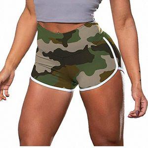 Workout cintura alta Sports curto de # H40 Camouflage Mulheres Correndo Academia Leggings Female Yoga Shorts Gym Yoga Leggings t6Ni #