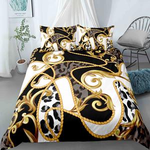 2021 Nueva Llegada Conjunto de ropa de cama de lujo Cubiertas Edredones Cubierta de edredón King Tamaño Damas Reinas Conjuntos de edredón 2 / 3pcs Tela de microfibra 201127