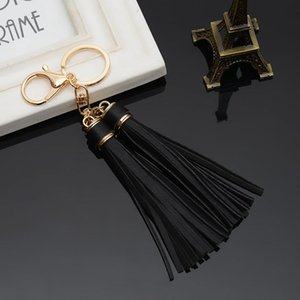 Hot Sale Leather Tassels Key Chain With Two Tassels For Car Keychain Bag Key Ring Jewelry Eh820 H wmtBzE